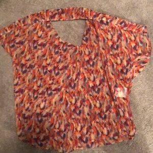Flowy BCBG Top with Open Back